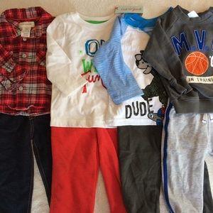 8pc outfit set boy winter clothes bundle